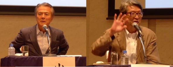 写真左から、小宮山 宏さんと岩井克人さん